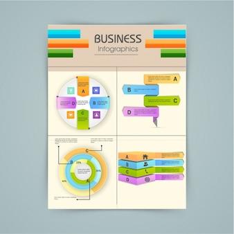 Infografica fabulous con elementi 3d