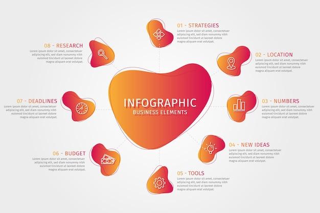 Infografica forma astratta sfumata