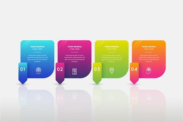 Infografica gradiente colorato