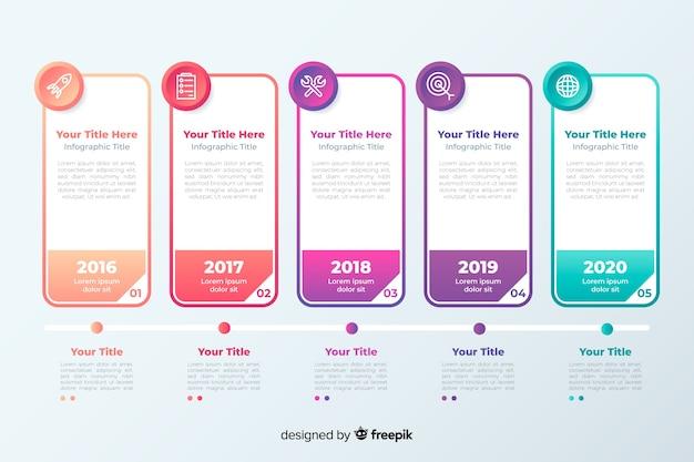 Infografica gradiente professionale