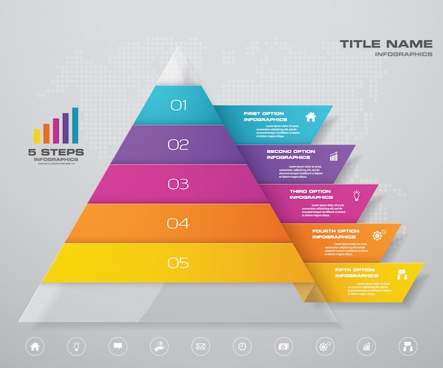 Infografica grafico a piramide
