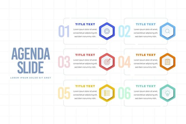 Infografica grafico dell'agenda