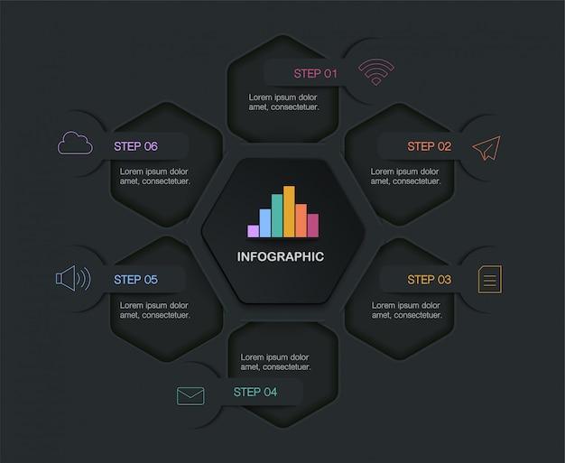 Infografica, illustrazione con casella di testo