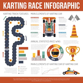 Infografica karting motor race