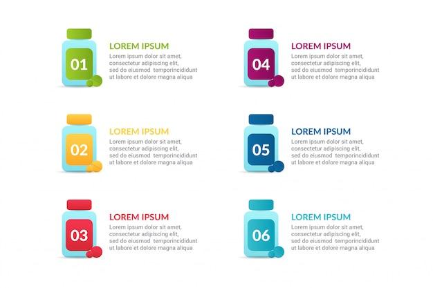 Infografica medica con opzioni o elenco
