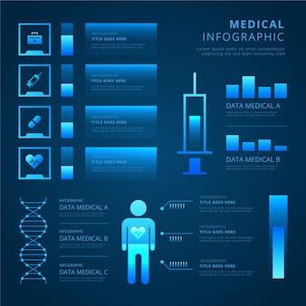 Infografica medica tecnologia futuristica