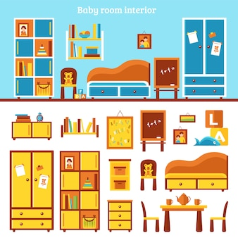 Infografica mobili baby room