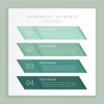 Infografica modello banner commerciali