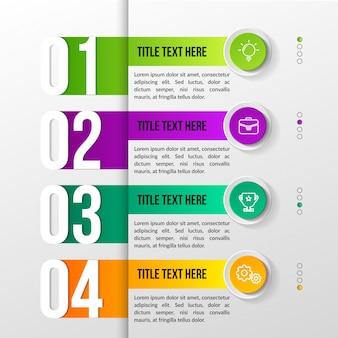 Infografica moderna a colori