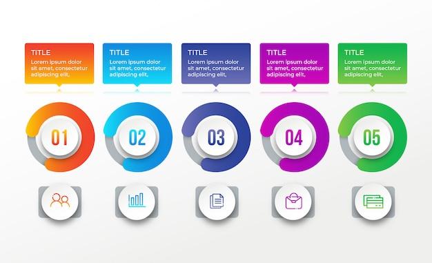 Infografica moderna di affari