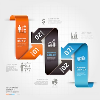 Infografica moderna freccia di affari.