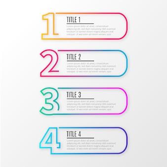 Infografica moderna linea d'affari