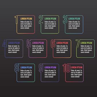 Infografica numero linea moderno minimalista