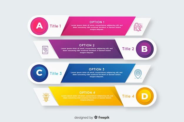 Infografica passaggi professionali