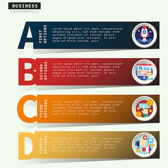 Infografica passo d'affari
