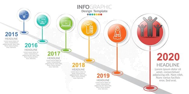Infografica per il concetto di business con icone e opzioni o passaggi.
