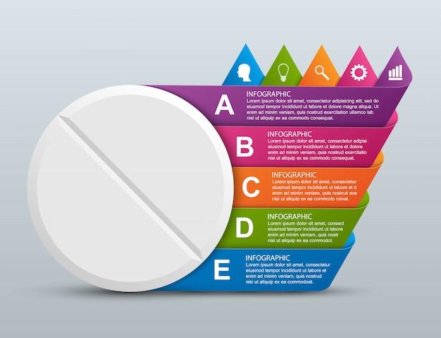 Infografica per la medicina.