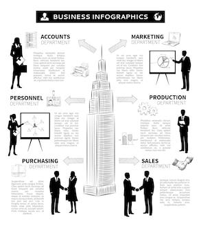 Infografica persone d'affari