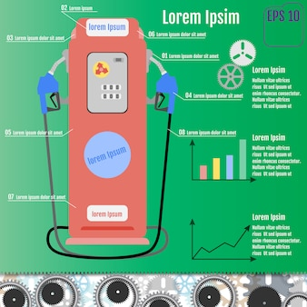 Infografica pompa carburante