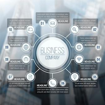 Infografica professionale con immagine