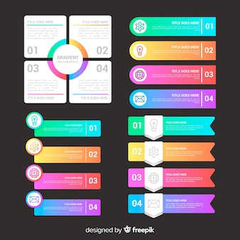 Infografica professionale gradiente