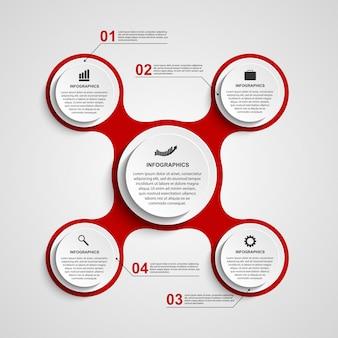 Infografica sotto forma di metabolica. elementi di design.