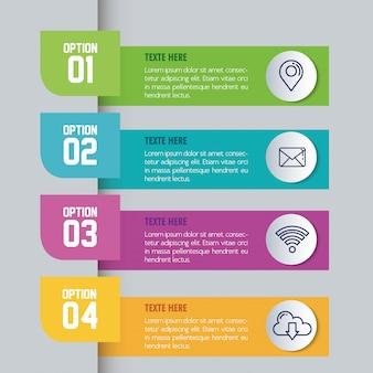 Infografica statistica con numeri e icone di affari