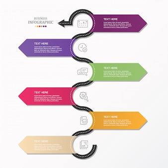 Infografica stradale e icone