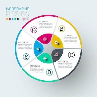 Infografica su grafica vettoriale.