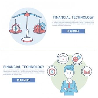Infografica tecnologia finanziaria online