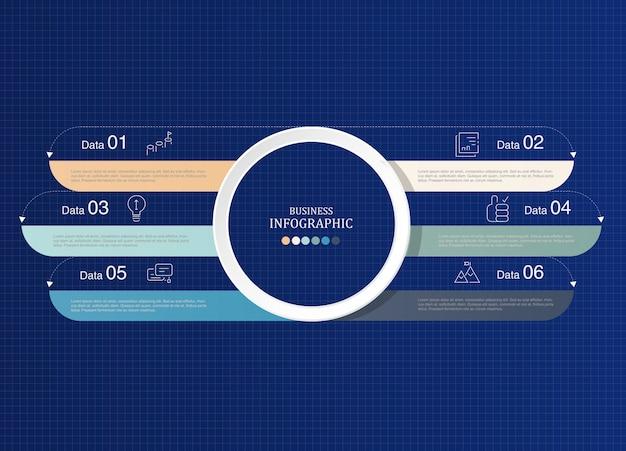 Infografica tema blu