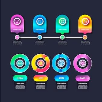 Infografica timeline lucido realistico