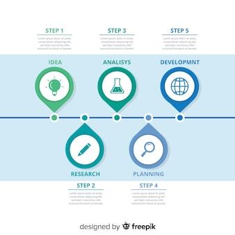 Infografica timeline piatta