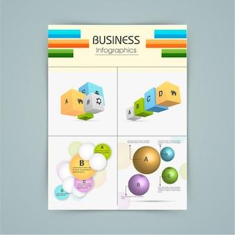 Infografica utile con elementi 3d