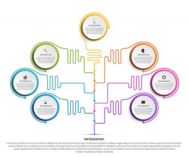 Infografica vettoriale per presentazioni aziendali.