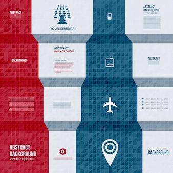 Infografici di vettore. scheda di sfondo astratto