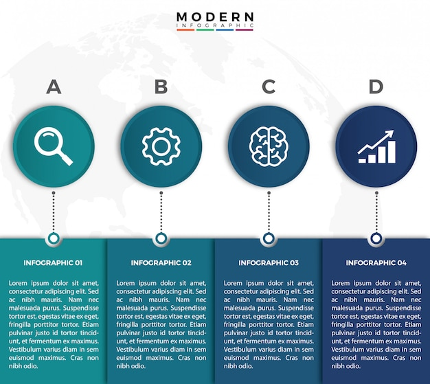 Infographic design moderno e semplice linea sottile