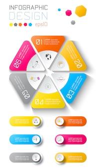 Infographic di affari sulla priorità bassa del programma di mondo.