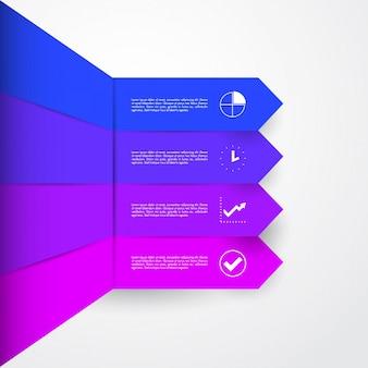 Infographic di sezione 4 di affari moderni