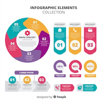 Infographic elemento collectio