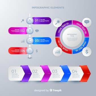 Infographic elemento collectio