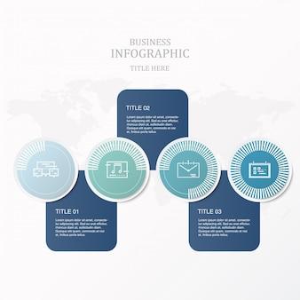 Infographics di colore blu e concetto di carico.