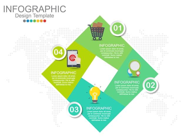 Infographics di quattro punti
