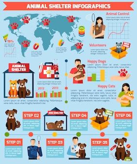 Infographics di rifugio per animali