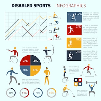 Infographics di sport disabili