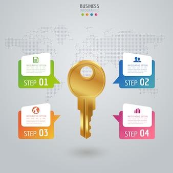 Infographics e diagramma variopinti di affari