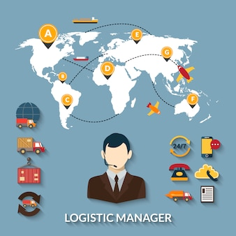 Infographics manager logistico