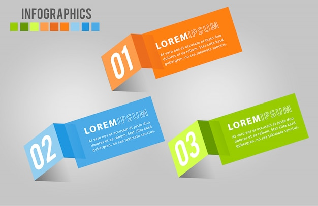Infographics moderno dell'insegna di vettore del modello di carta.