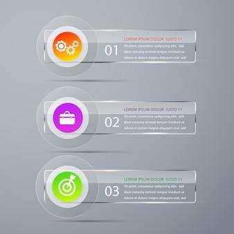 Infographics moderno dell'insegna di vettore del modello.