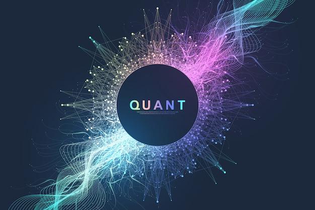 Informatica quantistica dell'illustrazione astratta di vettore della finzione.